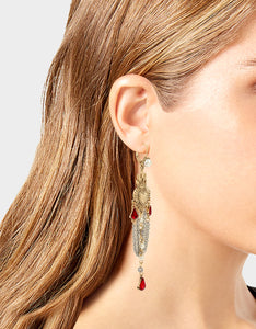 ROCKIN RICHES CHANDELIER EARRINGS RED