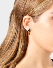 ROCKIN RICHES CROSS STUD EARRINGS BLACK - JEWELRY - Betsey Johnson