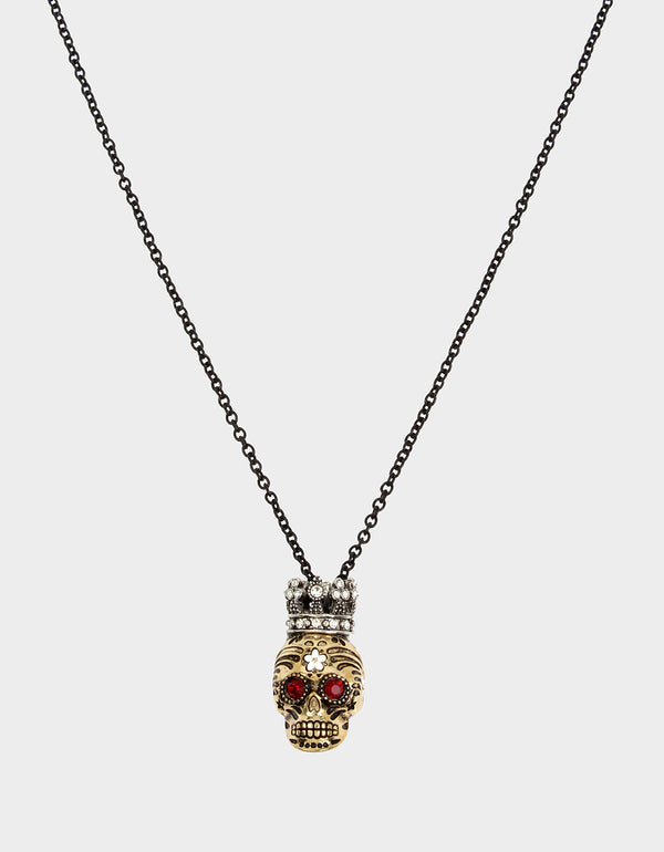 ROCKIN RICHES SKULL PENDANT MULTI - JEWELRY - Betsey Johnson