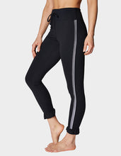 RUFFLE HEM SIDE MESH LEGGING BLACK - APPAREL - Betsey Johnson