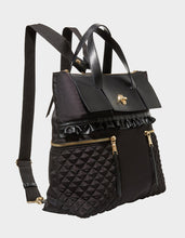 RUFFLE ME UP BACKPACK BLACK - HANDBAGS - Betsey Johnson