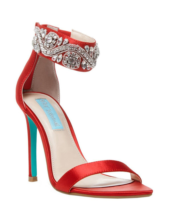 SB-BRIE RED SATIN - SHOES - Betsey Johnson