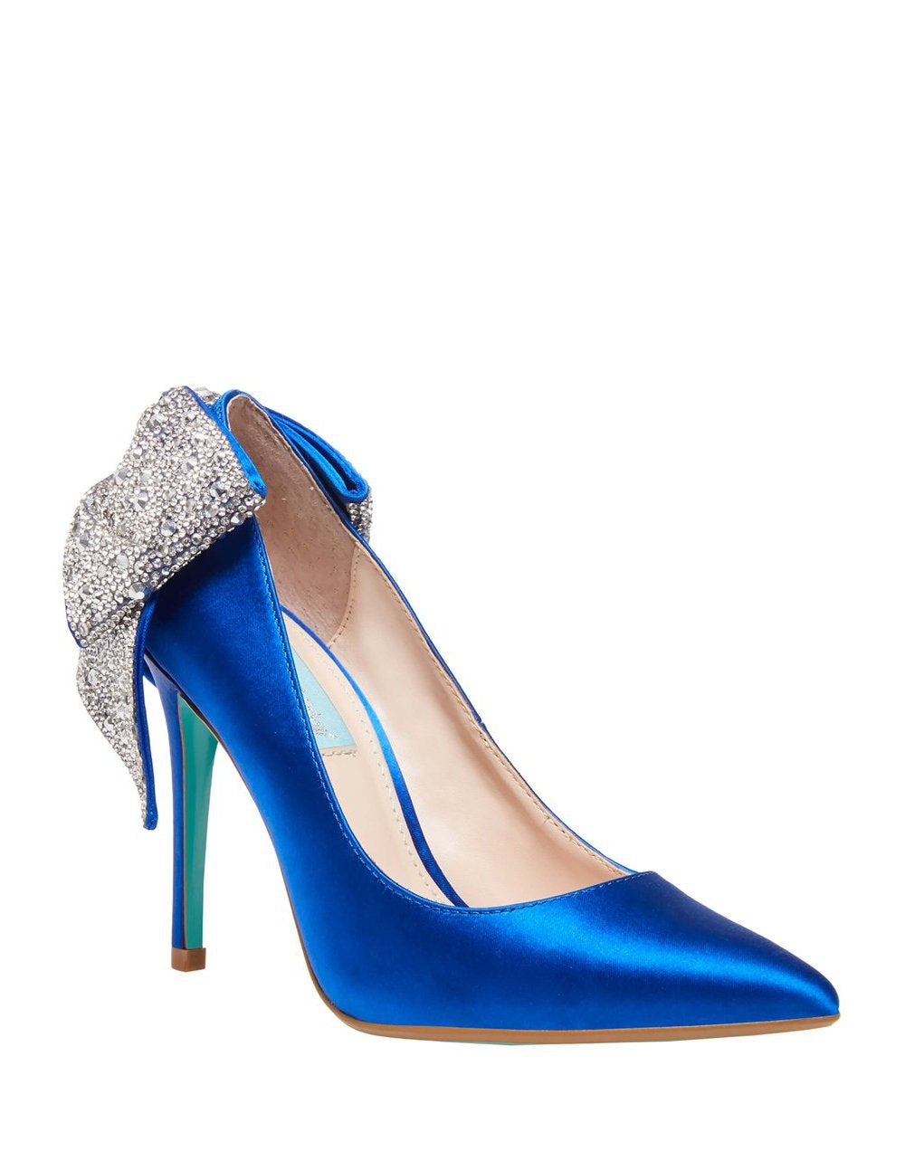 SB-BRYN BLUE SATIN - SHOES - Betsey Johnson