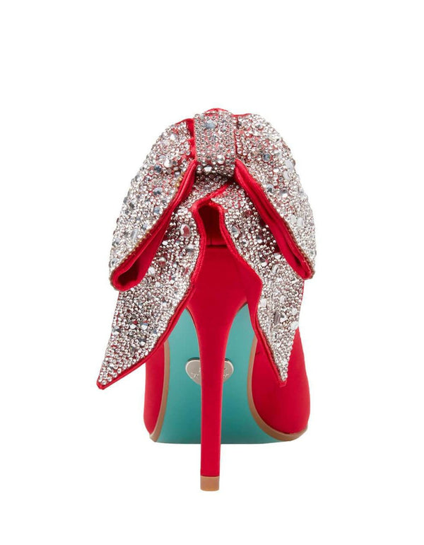 SB-BRYN RED SATIN - SHOES - Betsey Johnson