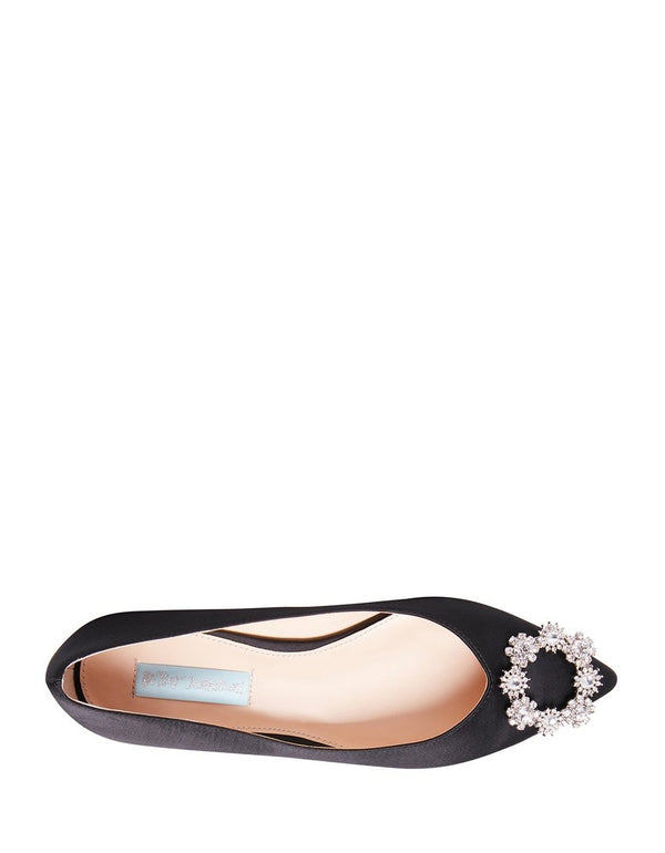 SB-DIANA BLACK SATIN - SHOES - Betsey Johnson