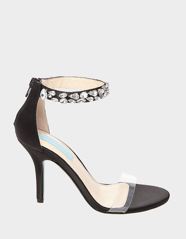 SB-DREW BLACK SATIN - SHOES - Betsey Johnson