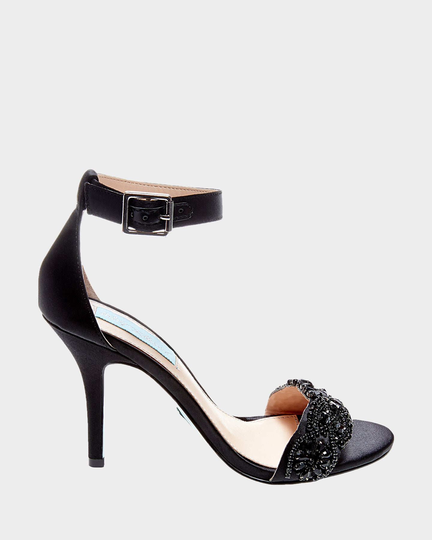 SB-GINA BLACK SATIN - SHOES - Betsey Johnson