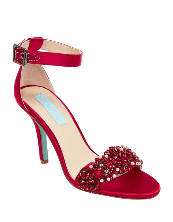 SB-GINA RED SATIN - SHOES - Betsey Johnson