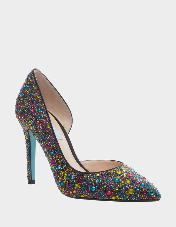 SB-HAZIL BLACK MULTI - SHOES - Betsey Johnson
