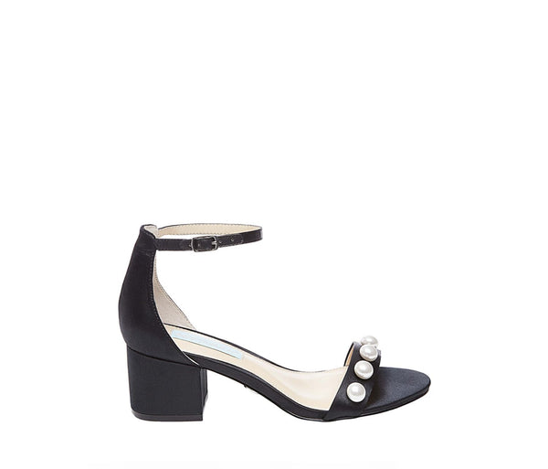 SB-JADEN BLACK SATIN - SHOES - Betsey Johnson
