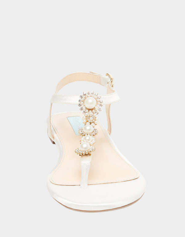 SB-LAUR IVORY SATIN - SHOES - Betsey Johnson