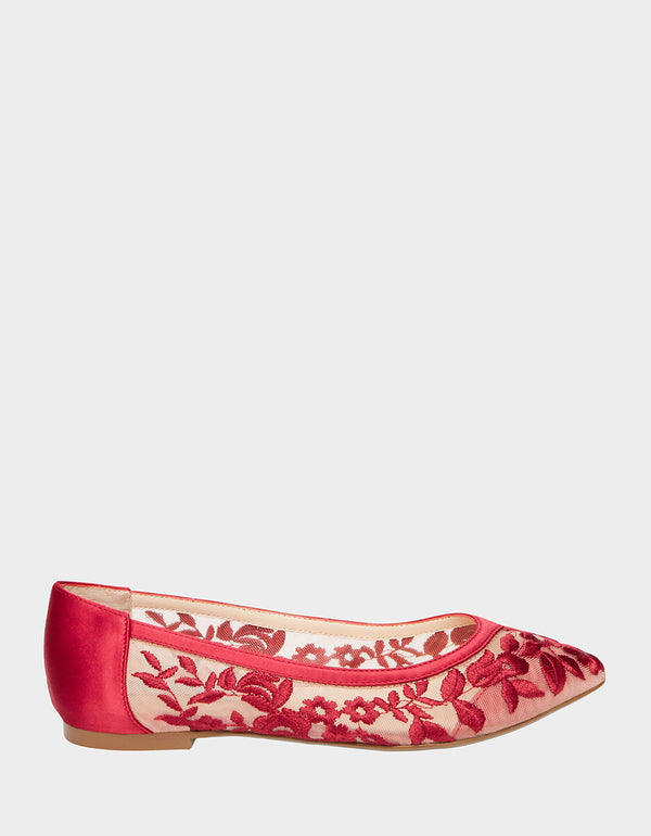 SB-LEAH RED FABRIC - SHOES - Betsey Johnson