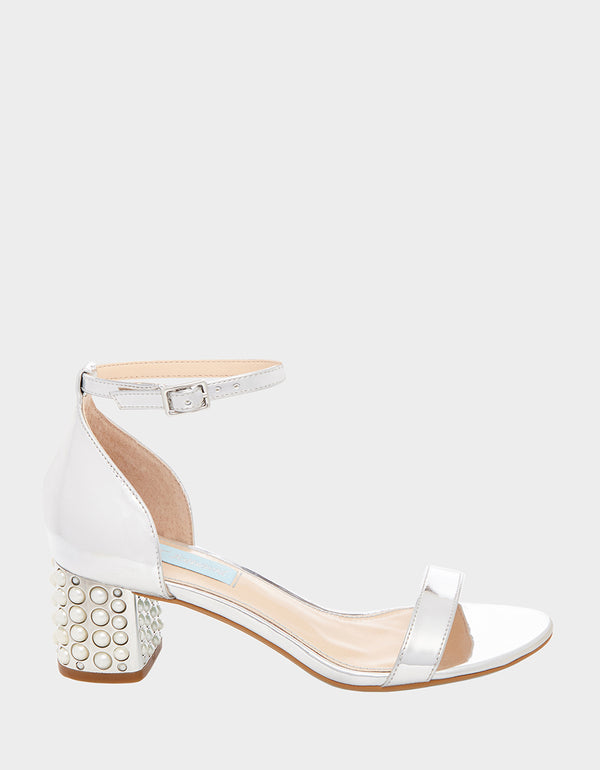 SB-MELLI SILVER FOIL - SHOES - Betsey Johnson