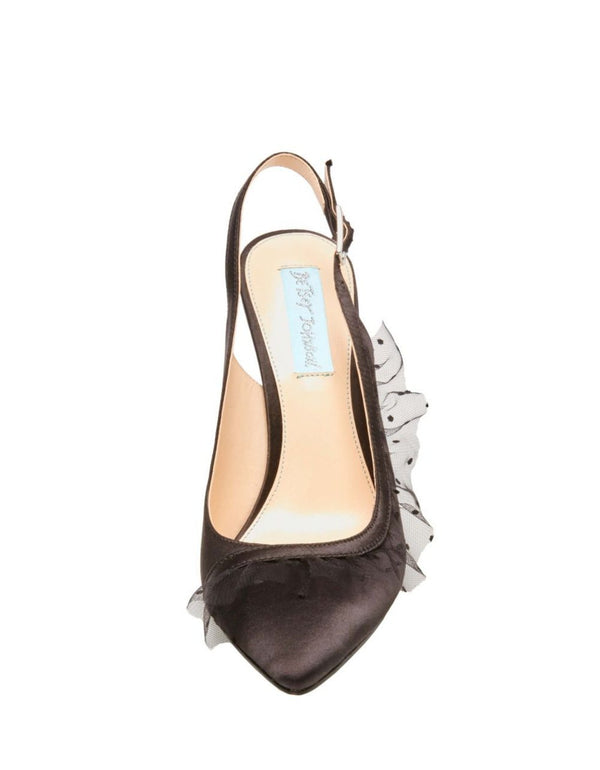 SB-MIA BLACK SATIN - SHOES - Betsey Johnson