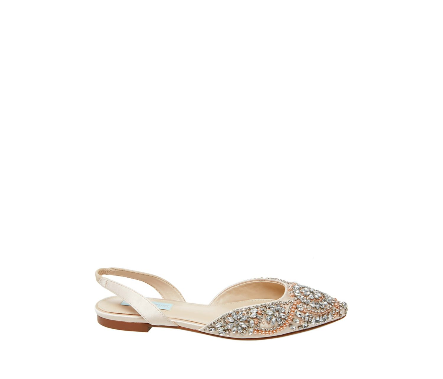 8962f6647dd ... SB-MOLLY CHAMPAGNE SATIN - SHOES - Betsey Johnson ...