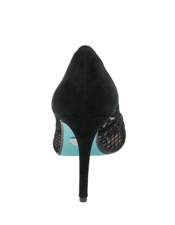 SB-NESSA BLACK SUEDE - SHOES - Betsey Johnson
