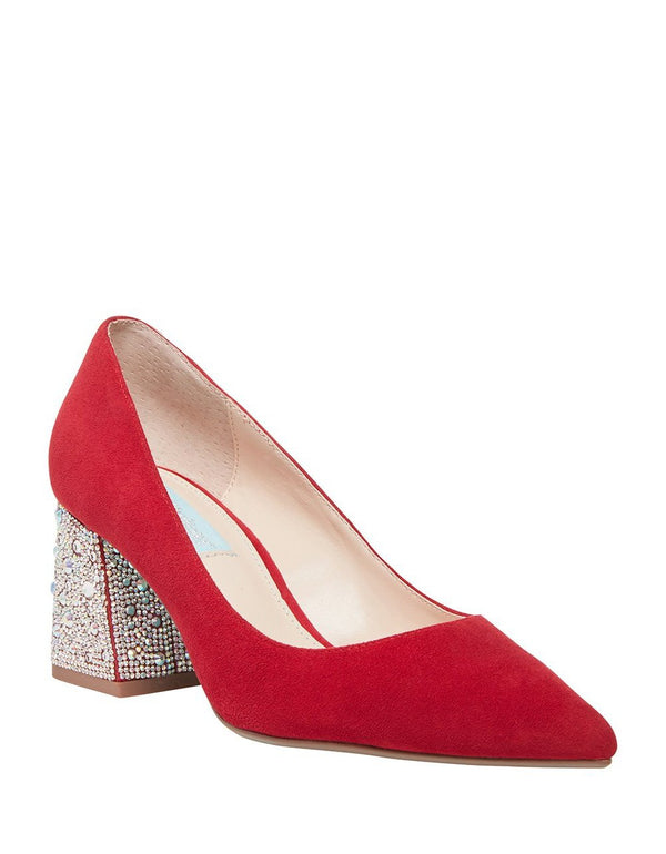 SB-PAIGE RED SUEDE - SHOES - Betsey Johnson