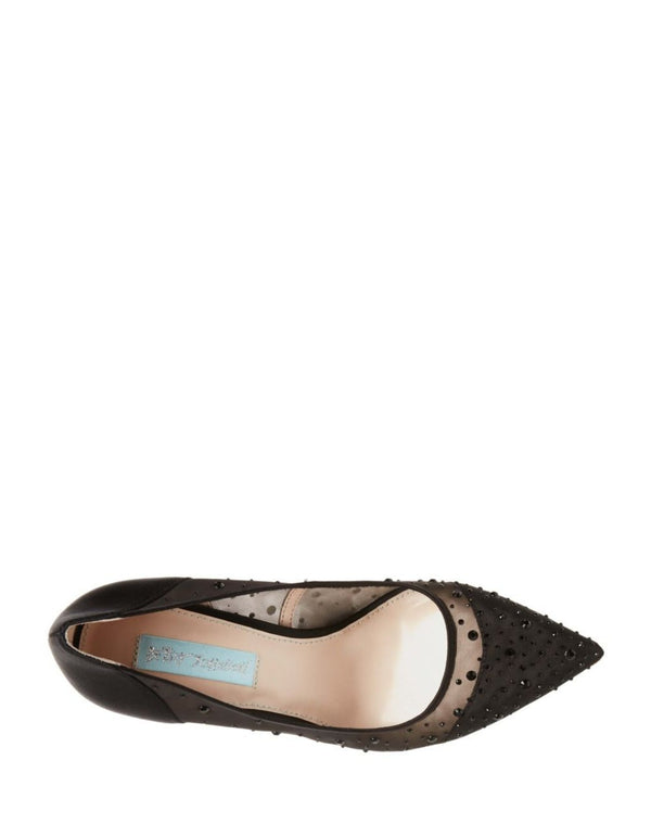 SB-RUBIE BLACK SATIN - SHOES - Betsey Johnson