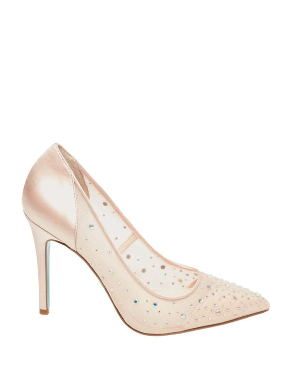 SB-RUBIE CHAMPAGNE SATIN - SHOES - Betsey Johnson