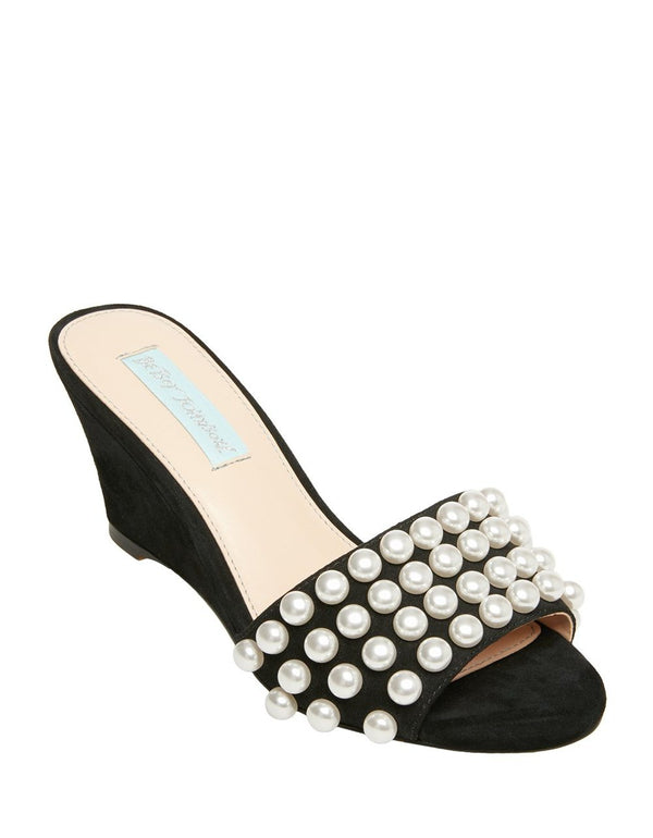SB-TAYAS BLACK SUEDE - SHOES - Betsey Johnson
