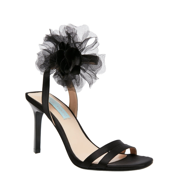 SB-YASMI BLACK SATIN - SHOES - Betsey Johnson