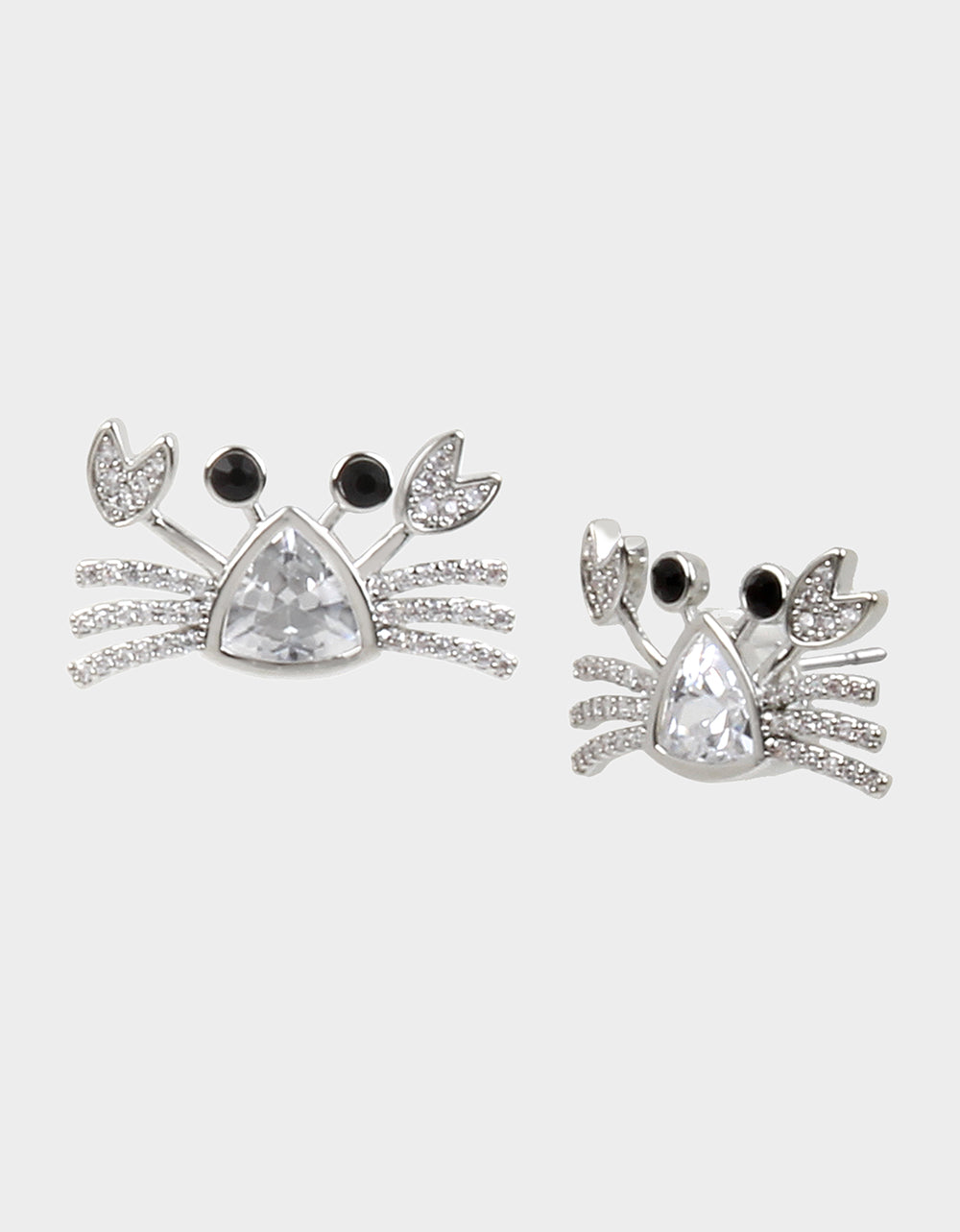 SEALIFE CRAB STUD EARRINGS CRYSTAL - JEWELRY - Betsey Johnson