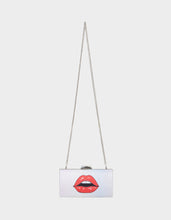 SEE ME KISS ME CLUTCH SILVER - HANDBAGS - Betsey Johnson