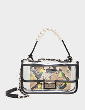 SEEING CLEARLY PEARL SWAG BAG NATURAL SNAKE - HANDBAGS - Betsey Johnson