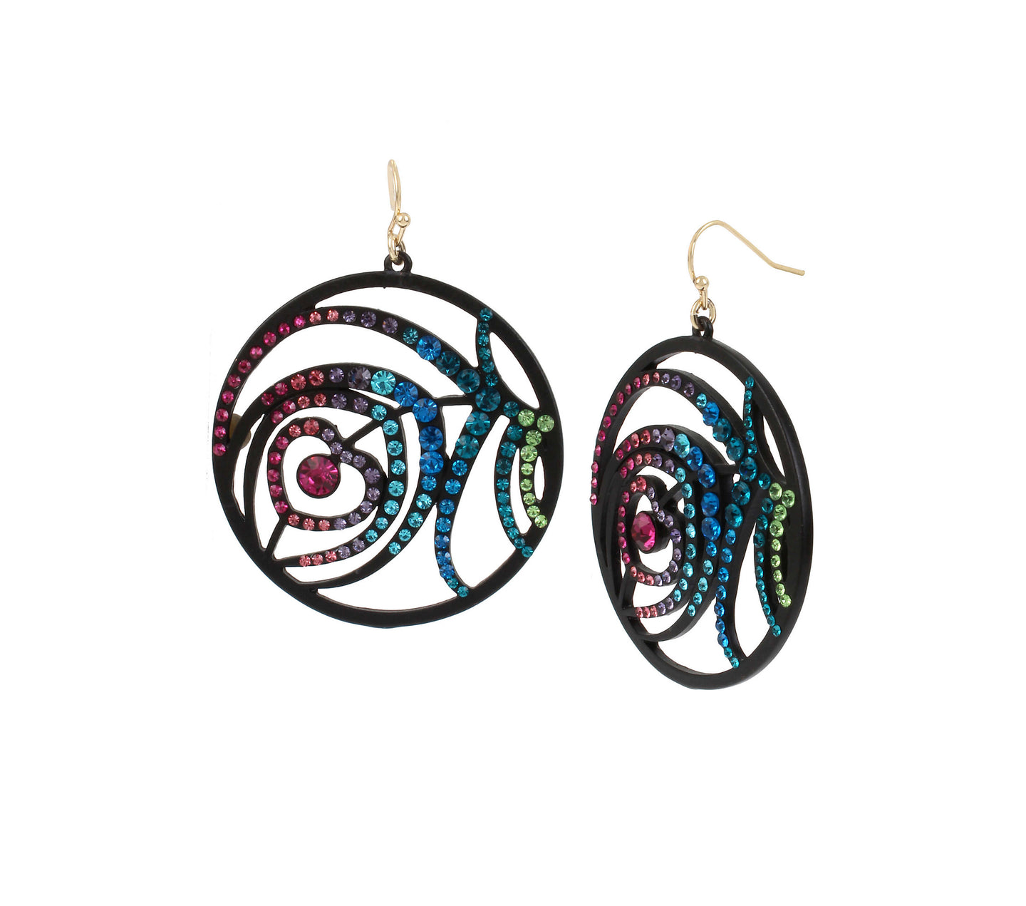 SHAKE IT OFF FEATHER DROP EARRINGS MULTI - JEWELRY - Betsey Johnson