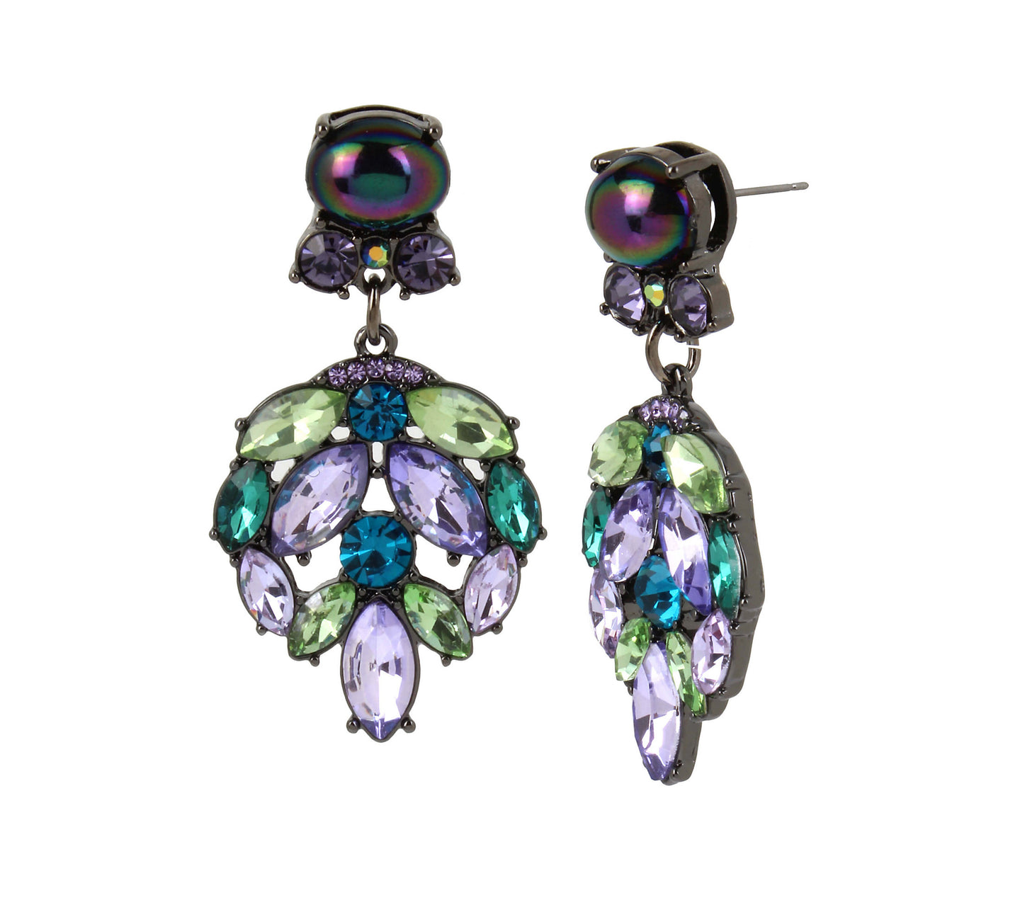SHAKE IT OFF STONE DROP EARRINGS MULTI - JEWELRY - Betsey Johnson