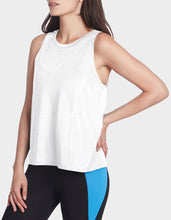 SHEER STRIPE SWING TANK WHITE - APPAREL - Betsey Johnson