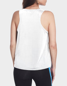 SHEER STRIPE SWING TANK WHITE