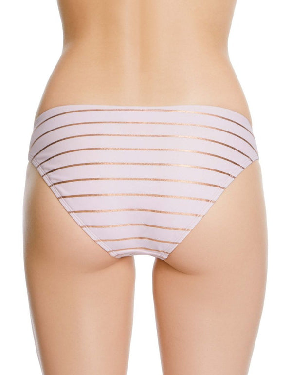 SHIMMER STRIPES HIPSTER BOTTOM PINK - APPAREL - Betsey Johnson
