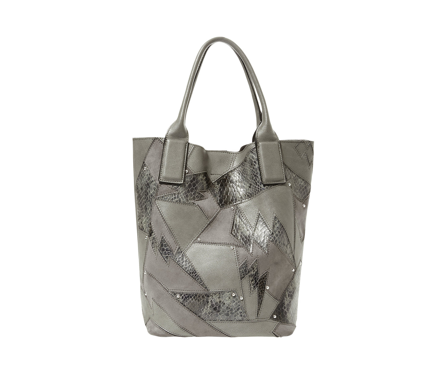 SHOCK IT TO ME TOTE GREY - HANDBAGS - Betsey Johnson