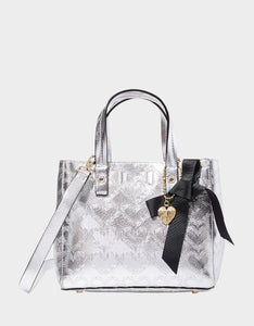 SHOP AROUND THE CLOCK TOTE SILVER