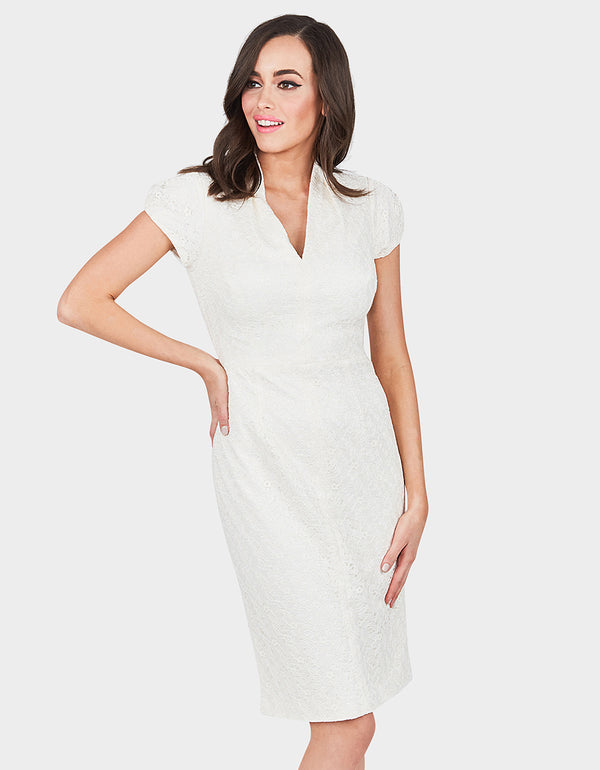 SIMPLE SOPHISTICATION DRESS CREAM - APPAREL - Betsey Johnson