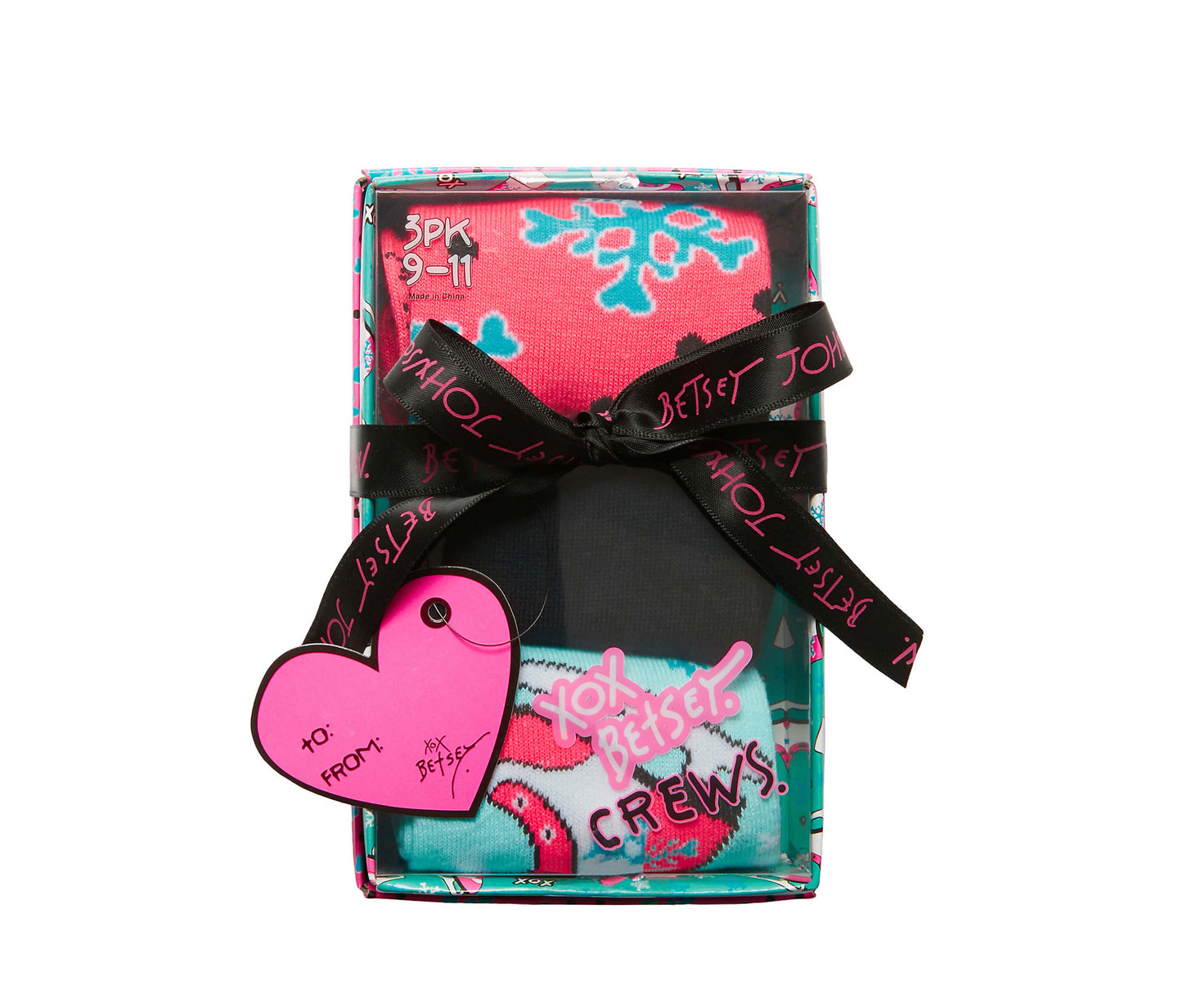 SKATERS DREAM CREW 3 PACK GIFT BOX MULTI - ACCESSORIES - Betsey Johnson