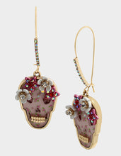 SKULLS AND CATS SKULL HOOK EARRINGS PINK - JEWELRY - Betsey Johnson