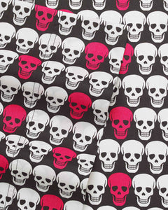 SKULLS MICROFIBER FULL SHEET SET BLACK MULTI