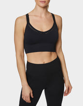 SLASHED BACK SEAMLESS BRA BLACK - APPAREL - Betsey Johnson