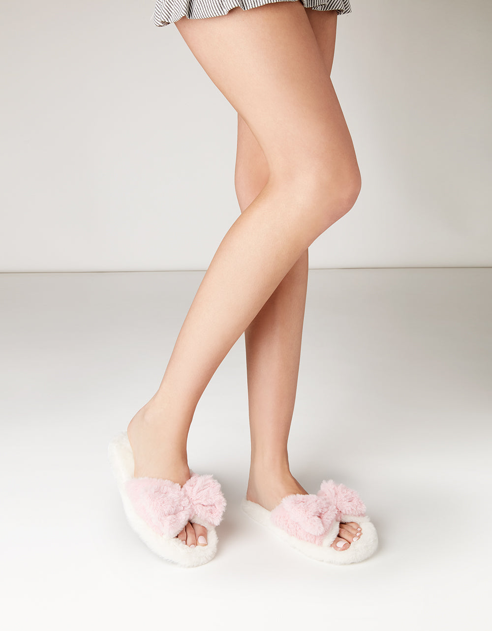 SLEEPY SATURDAY IVORY SLIPPERS - SHOES - Betsey Johnson