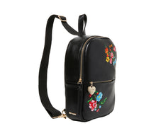 SLING SHOT FLORAL BACKPACK BLACK - HANDBAGS - Betsey Johnson
