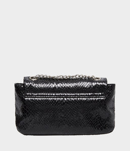 SLITHER AND SHINE CROSSBODY BLACK