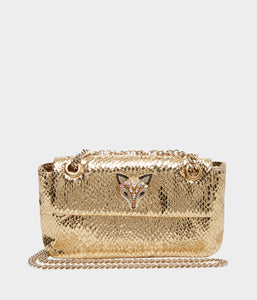 SLITHER AND SHINE CROSSBODY GOLD