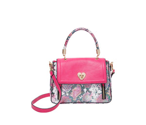 SLITHERIN AROUND SATCHEL PINK