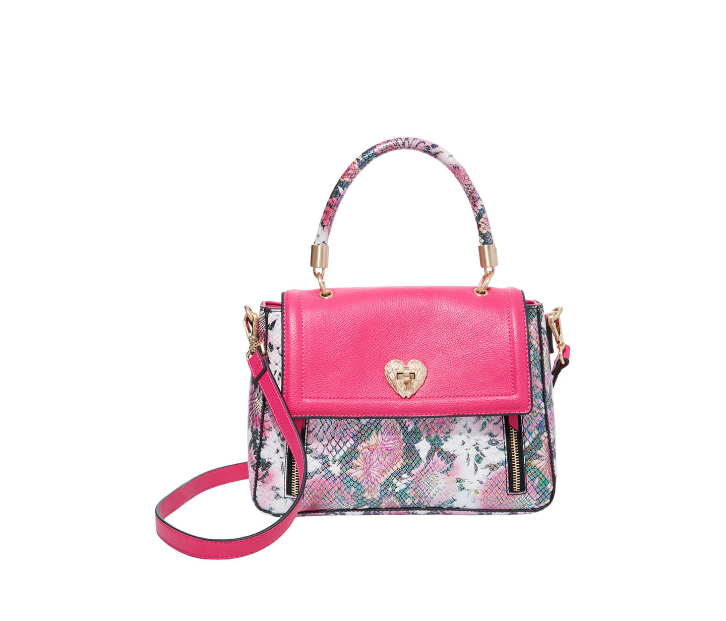 SLITHERIN AROUND SATCHEL PINK - HANDBAGS - Betsey Johnson
