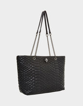 SLITHERING AROUND SHOPPER BLACK - HANDBAGS - Betsey Johnson