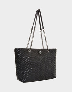 SLITHERING AROUND SHOPPER BLACK