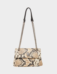 SLITHERING SKULL FLAP CROSSBODY NATURAL SNAKE