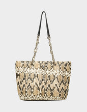 SLITHERING SKULL TOTE NATURAL SNAKE - HANDBAGS - Betsey Johnson